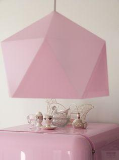 Lampe diamant origami