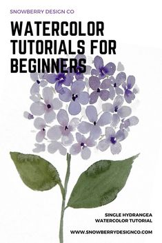 Learn how to paint watercolor flowers with Snowbe. - Snowberry Design Co Painting easy Painting ideas Painting water Painting tutorials Painting landscape Painting abstract Watercolor Painting Watercolor Beginner, Watercolor Paintings For Beginners, Watercolor Projects, Watercolor Tips, Watercolor Techniques, Simple Watercolor, Beginner Painting, Watercolor Pencils, Watercolor Portraits