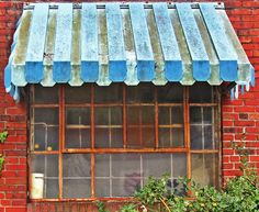 Old Rusted Window & Metal Awning - Love's Photo Album Metal Awnings For Windows, Outdoor Window Awnings, Aluminum Awnings, Beach House Kitchens, Love Photos, Creative Studio, Valance Curtains, Rust, Projects To Try