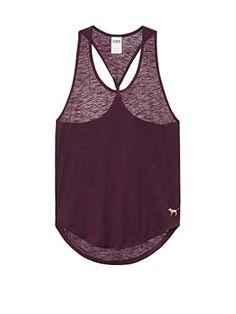 b22f75dfb1b784 Victoria s Secret PINK Twist Back Tank X-Small Clay Grey at Amazon Women s  Clothing store