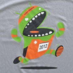 Google Android Tough Mudder Medium Running Shirt 2012 Gray Athletic #SportTek #ShirtsTops