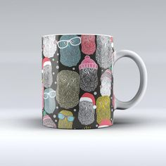 The Spaced Out Owls ink-Fuzed Ceramic Coffee Mug from Design Skinz. Saved to New! 11 & 15 oz Ceramic Mugs.