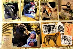 First Trip to the Zoo Layout - Scrap 'n Art Online Magazine - Serengeti - vintage African Art - perfect for animal layouts