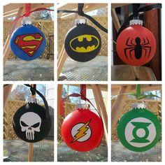 superhero ornaments geeky christmas