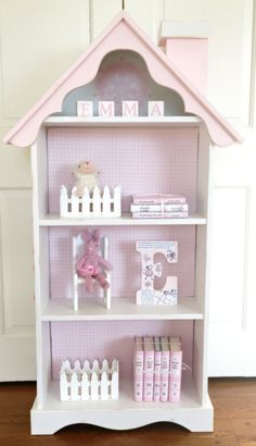 Charming Cottage Dollhouse Bookcase Custom By ArtfulLibrary