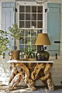 Tree table..I it for a Charleston porch or even for a statement piece inside