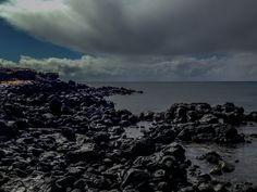 Rapa Nui, black rocks