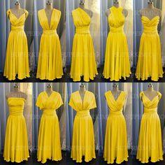 Yellow Bridesmaid Dresses, Lace Evening Dresses, Formal Dresses, Wedding Party Dresses, Convertible, Wedding Ideas, Wedding Themes, Rustic Wedding, Wedding Stuff
