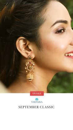 Pallav Chandbali Earrings is a jewel box essential - made with the finest of craftsmanship that uses antique plating and top quality kempu stones. The sheer youthfulness of this jewel makes it a head turner. Indian Jewellery Online, Indian Jewelry, Necklace Set, Gold Necklace, Custom Earrings, Ear Rings, Jewel Box, Raw Gemstones, Summer Jewelry