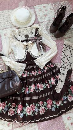 OMG! This is perfect! soophje:  A coord with my Marine Rose JSK JSK, OTKs, Bag, Bow and Bolero are from Innocent World Hat is from Angelic Pretty Shoes are from Axes Femme Necklace is handmade