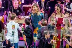 Queen Maxima of The Netherlands attends the Christmas gala concert for the best school band on December 14, 2017 in Rotterdam, Netherlands.
