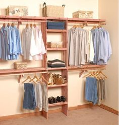 Wall Kit - Deluxe Solid Wall Closet Organization Kit 10'
