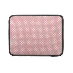 Vintage Pink Polka Dots MacBook Pro Sleeves