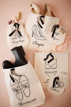 Lingerie Retro, Wedding Favours Bridesmaids, Hand Embroidery Flowers, Black Bride, Leather Bags Handmade, Travel Bags, Travel Backpack, Cotton Bag, Cloth Bags