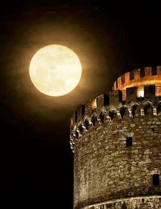 Full moon Thesaloniki Greece