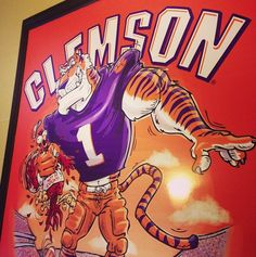 We here at Tigertown Graphics have lined our walls with some quality artwork. #chokingthechicken #gotigers #officeart #instagood #beatusc