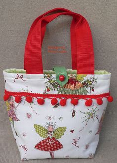 "Kindertasche ""Elfe""  von Poco Loco auf DaWanda.com Diaper Bag, Diy, Pouch Bag, Purse, Hands, Handbags, Bricolage, Diaper Bags, Mothers Bag"