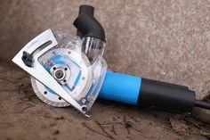 Herzo Experto Guía de corte con racor de aspiración para cortar 115/125 mm: Amazon.es: Bricolaje y herramientas
