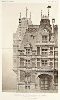 Architectural prints, classic architecture и french architecture. Architecture Antique, Classic Architecture, Victorian Architecture, Historical Architecture, Beautiful Architecture, Architecture Details, Architecture Mapping, Education Architecture, Architecture Drawings