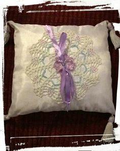 Wedding ring pillow (back)