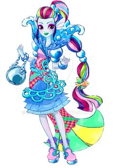 My friend wanted a Legacyday outfit for her oc Iris, daughter of the rainbow fish, and I was happy to oblige.