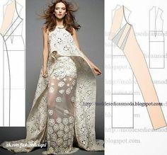 Mod@ en Line Couture. Diy Clothing, Sewing Clothes, Dress Sewing Patterns, Clothing Patterns, Diy Fashion, Ideias Fashion, Fashion Design, Pattern Draping, Diy Kleidung