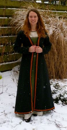 Viking coat with woven band