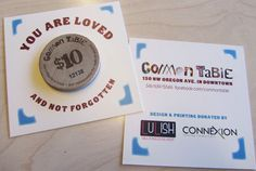 A unique way to give back and spread the love. These restaurant token cards were created & designed by LuLish and oh-so generously printed by Connexion Printing for a nonprofit restaurant in #BendOregon. A delish meal is always perfect for your friends, family, or a hungry stranger.