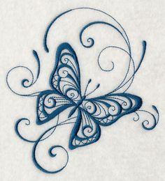 Inky Butterfly Delight