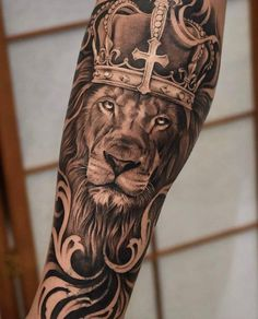 70 Female and Male Lion Tattoos Lion Forearm Tattoos, Lion Arm Tattoo, Lion Tattoo Sleeves, Lion Head Tattoos, Tattoos Arm Mann, Mens Lion Tattoo, Best Sleeve Tattoos, Top Tattoos, Tattoo Sleeve Designs