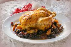 Pollo de corral asado de Navidad