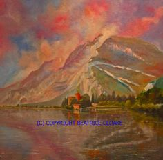 LAKE TOBLINO in Italy  Oil painting for by BeatriceCloakeStudio, £390.00