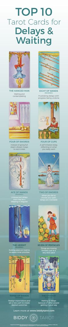 "The #universe has three #answers for those who want something more. ""No,"" ""Not yet,"" and ""I have something better in store."" These #Tarot cards can help you understand what the universe is telling you while you wait for your ship to come in. Download your free copy of my Top 10 Tarot Cards for love, finances, career, life purpose and so much more at https://www.biddytarot.com/top-ten-cards-ebook/ It's my gift to you!"