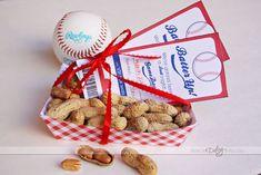 Printable baseball ticket invite.