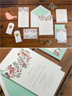 Whimsical Brooklyn Garden Wedding from Jove Meyer Events and The Wild Ivy, photographed by Jessica Schmitt Photography. Garden Wedding Invitations, Floral Wedding Invitations, Wedding Sets, Wedding Cards, Wedding Stationery Inspiration, Wedding Inspiration, Wedding Graphics, Orange Wedding, Wedding Designs