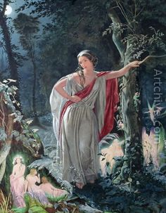Hermia in Midsummer Night's Dream by John Simmons in 1861
