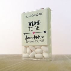 It's Mint To Be with this fresh new way to give your guests something to take away from your bridal shower or wedding day.