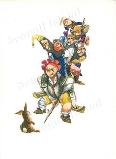 Seven Against a Hare 1960s Fairy Tale Illustration by Jiri Trnka SeagullIsland on Etsy, $8.00