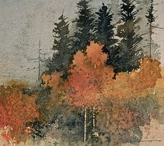 UTAH LANDSCAPES IN WATERCOLOR:       Another autumn painting..... Watercol...