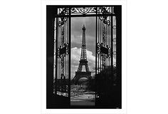Eiffel Tower through Gates | Corbis Archive | 310gsm Baryta fine art paper/12-color pigment inks | William Stafford Gallery, London