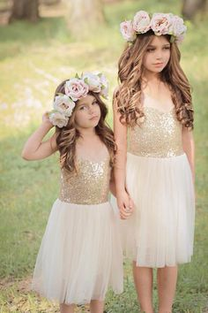 Girl's Gold Holiday Dress – Fleur and Lace Boutique