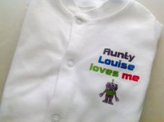 Robot babygrow, funky baby clothing