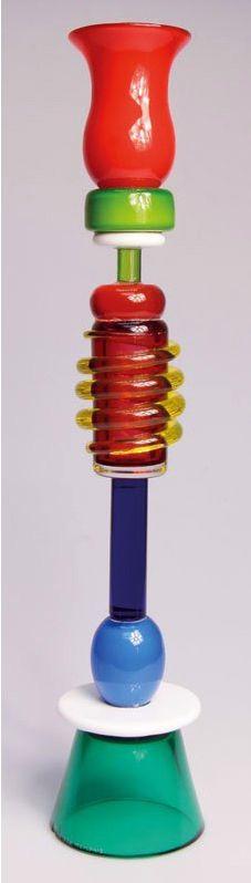 """Ananke"" glass vase by Sottsass 1986."
