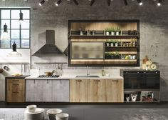 The trendy model LOFT, industrial Design www.idcuisine.be #Snaidero #Design…