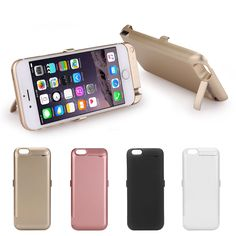 10000mAh External Battery Charger Power Case Cover & Flip Cover For iPhone 6 6S