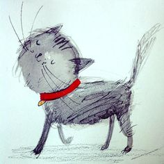 Laura hughes cat strut #CatArt