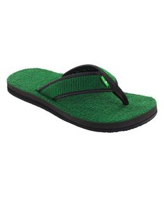 35c6fb91d Sanuk Green Fur Real Cozy Flip-Flop - Men