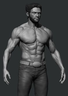 Wolverine WIP - Hugh Jackman , Preston Law on ArtStation at https://www.artstation.com/artwork/8OBJq