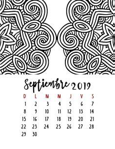 Calendario 2019 – Mama Inventiva Bullet Journal Tracker, Printables, Scrapbook, Lettering, School, Creative, Baby Showers, January Calendar, Calendar For Kids