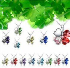 Swarovski Elements Clover Four Hearts Pendant Necklace $15  http://www.cyber-week.com/swarovski-elements-clover-four-hearts-pendant-necklace-15/
